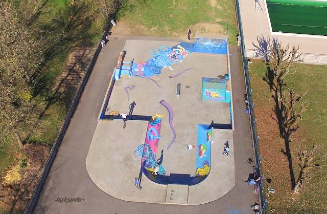 skate park frontenex drone