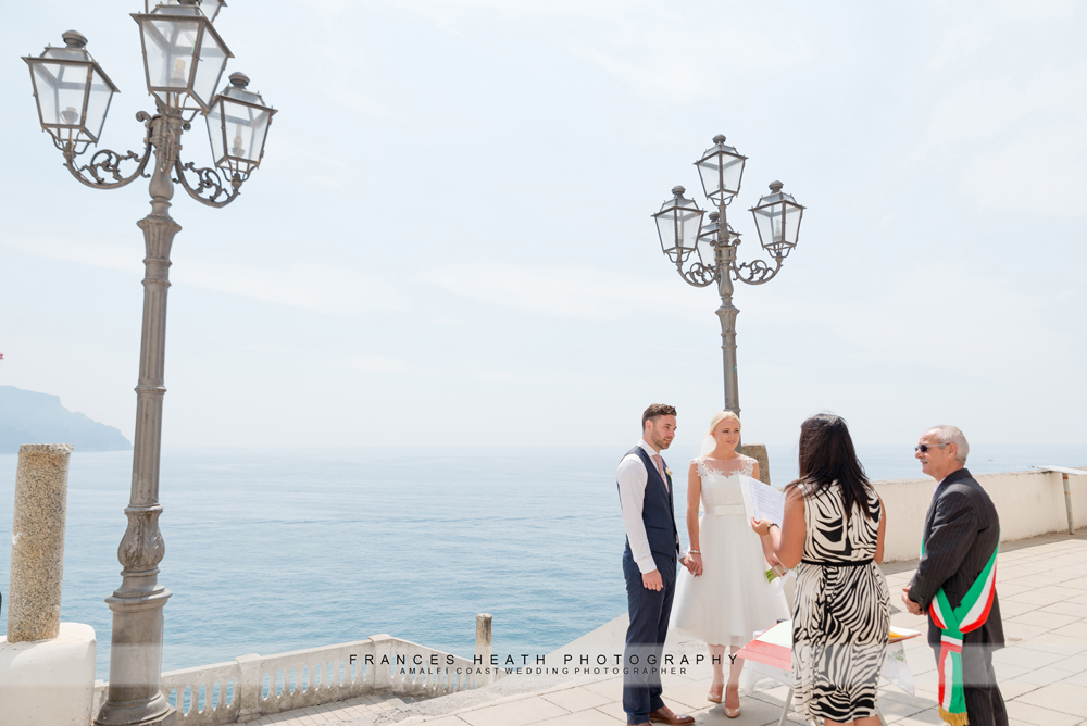 Civil wedding in Atrani