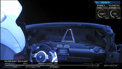 pilot aboard Tesla - don't worry