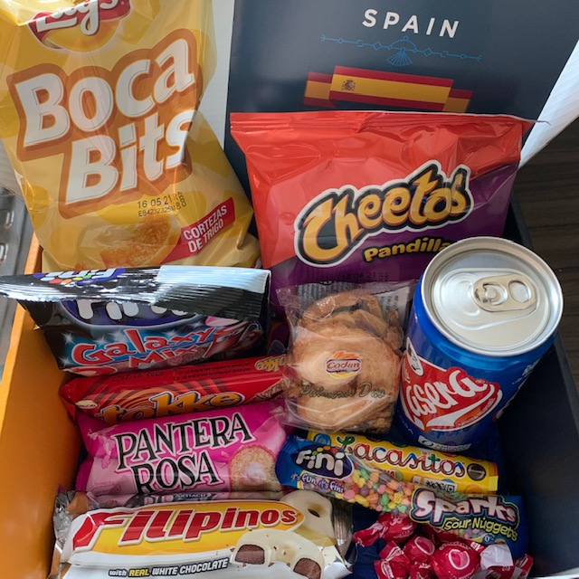 Snack surprise box, featuring Spanish snacks