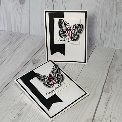 Handmade greeting card ideas using Brilliant Wings butterfly die from the Stampin' Up! Butterfly Brilliance Bundle