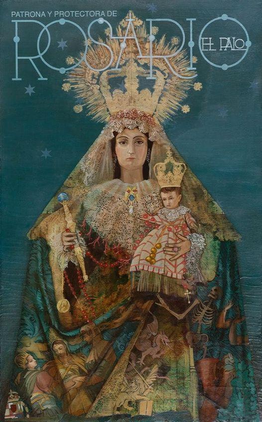 Cartel anunciador de la festividad de Nuestra Señora del Rosario 2021, patrona de El Palo (Málaga)