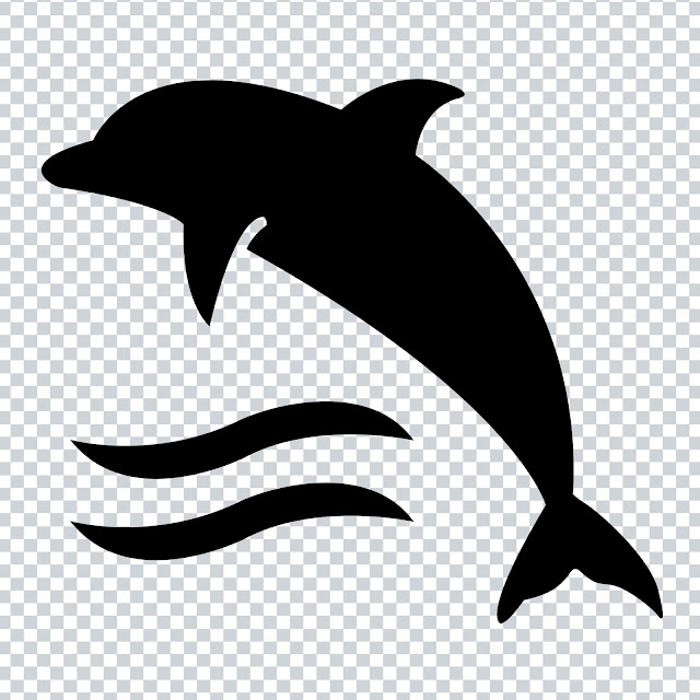Free Download PNG - Icon Dolphin On Water Waves