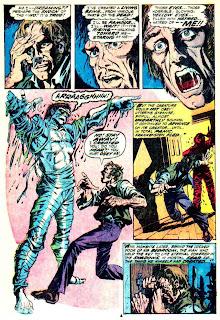 Frankenstein v2 #1 marvel comic book page art by Mike Ploog