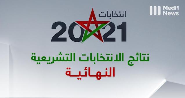 النتائج النهائية للانتخابات الجماعية بجماعة مع عدد الأصوات و المقاعد المحصل عليها.