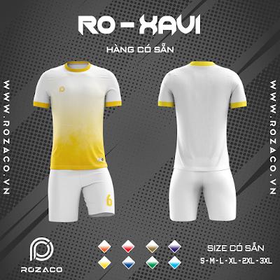 Áo Không Logo Rozaco RO-XAVI Màu Trắng Vàng