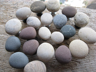 etsy drawer pulls and knobs made of smooth sea stones