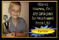 Baie geluk aan Nils van der Merwe met sy eerste plek en die trofee vir Afrikaans Redenaars by Laerskool Stephanus Roos met die oulike aanbieding van sy  redenaarstoespraak onder die ATKV tema EET!