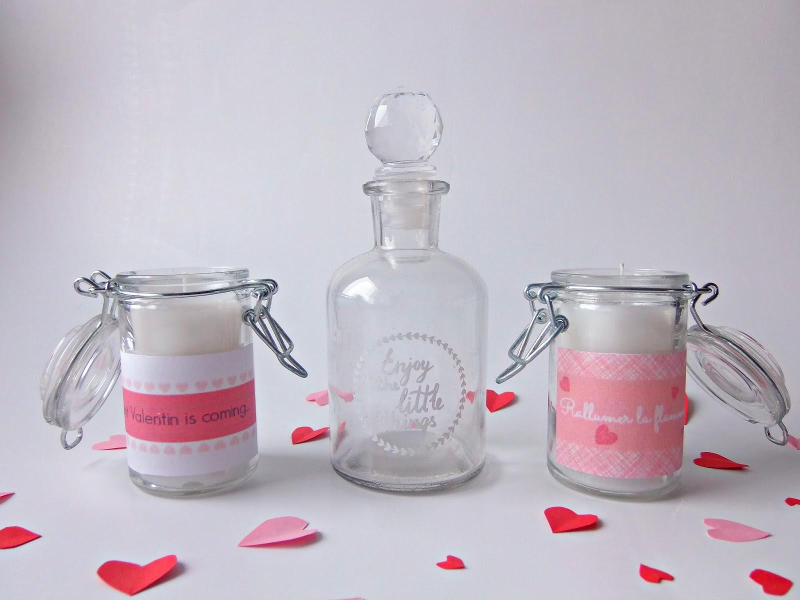 des bougies parfum es fait maison saint valentin truc tricks. Black Bedroom Furniture Sets. Home Design Ideas