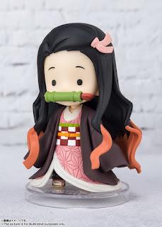 Demon Slayer: Kimetsu no Yaiba – Figuarts Mini Tsuyuri Kanao y Small Nezuko, Tamashii Nations