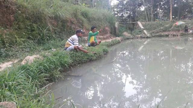 Pemancingan Bendungan Sledok Blibar Desa Ngrendeng Kecamatan Sine