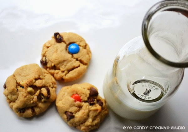 ingredients to make monster mash cookies, milk & cookies, cookie recipe