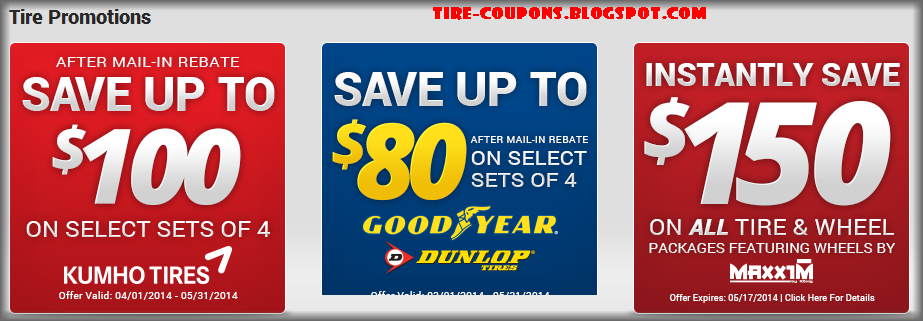 Kauffman Tire Coupons and rebates