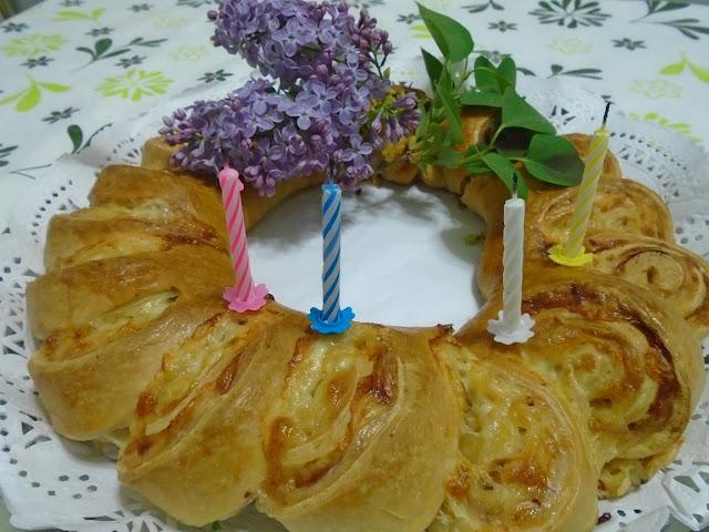 corona rellena salada