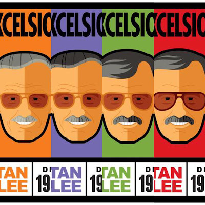 "San Diego Comic-Con 2017 Exclusive Stan ""The Man"" Lee Through The Ages Print Series by Tom Whalen x Stan Lee Collectibles"