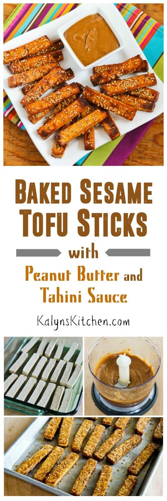 Baked Sesame Tofu Sticks with Peanut Butter and Tahini Sauce found on ...