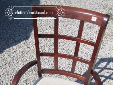 A Goodwill chair redo with DIY chalk paint