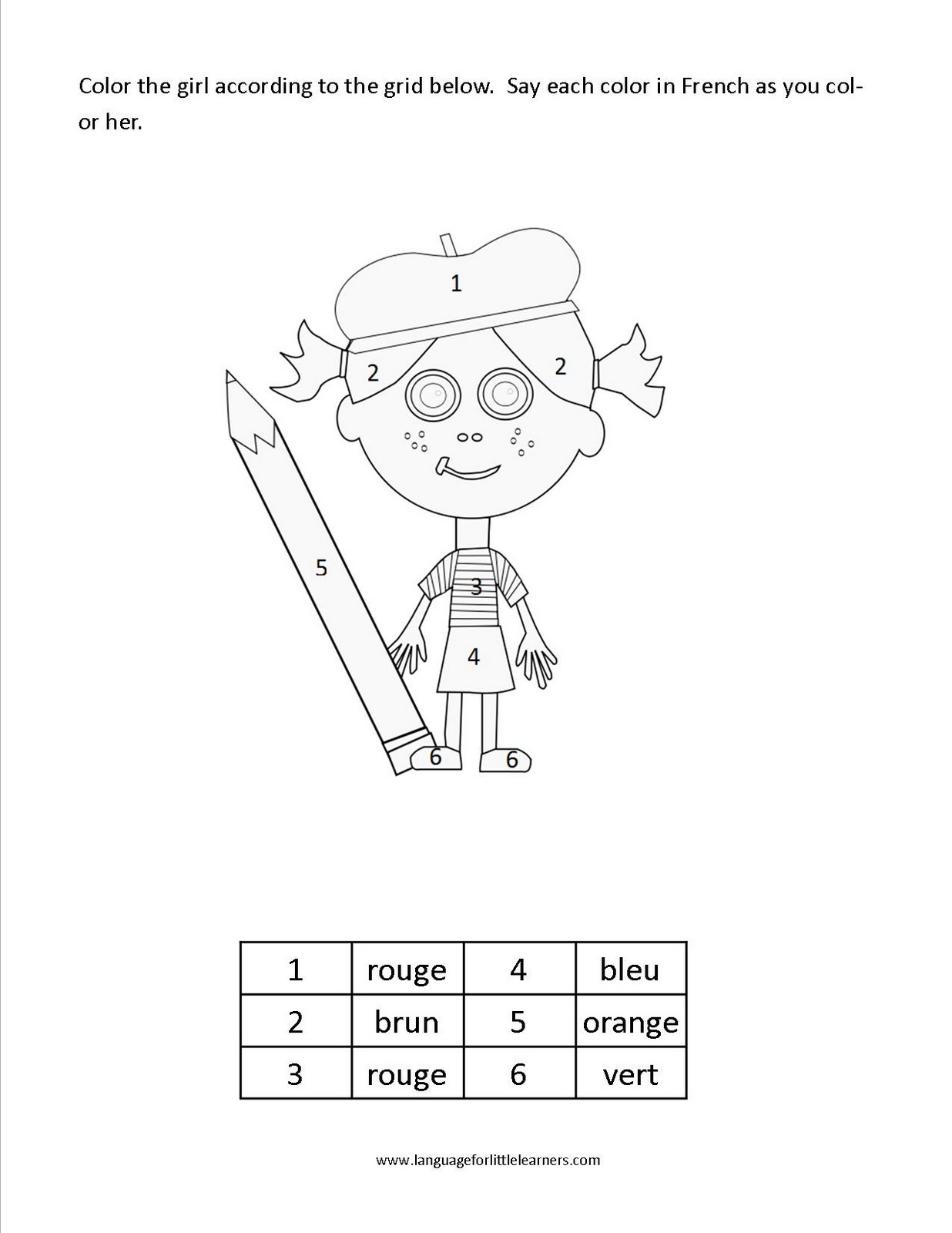 Language For Little Learners Color Worksheet Freebie