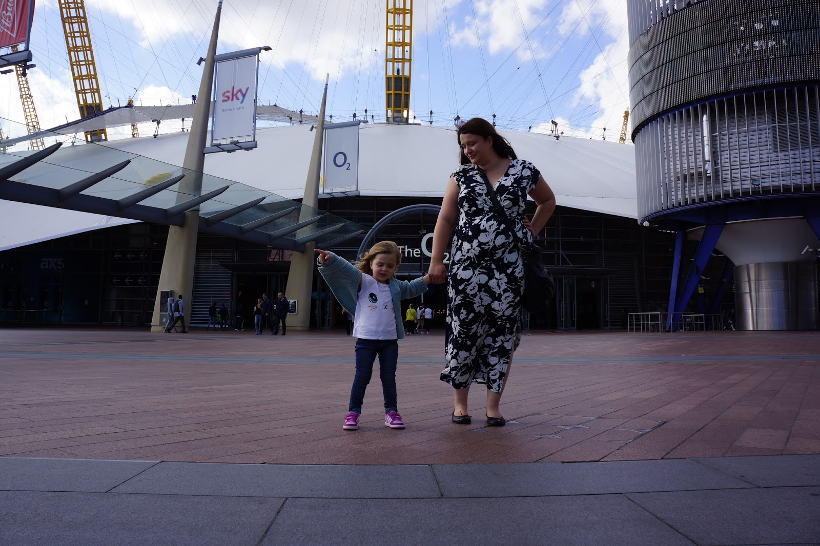 wearing my JD williams maxi dress at The O2