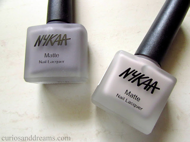 Nykaa Matte Nail Lacquer review, Nykaa Smores Milkshake review, Nykaa blueberry frosting review