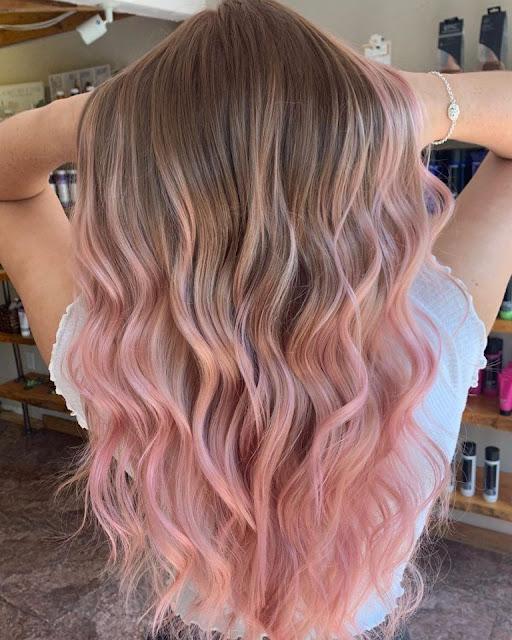 balayage rosado pastel