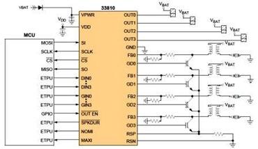 Freescale MC33810 Datasheet, IC for Auto Engine Control