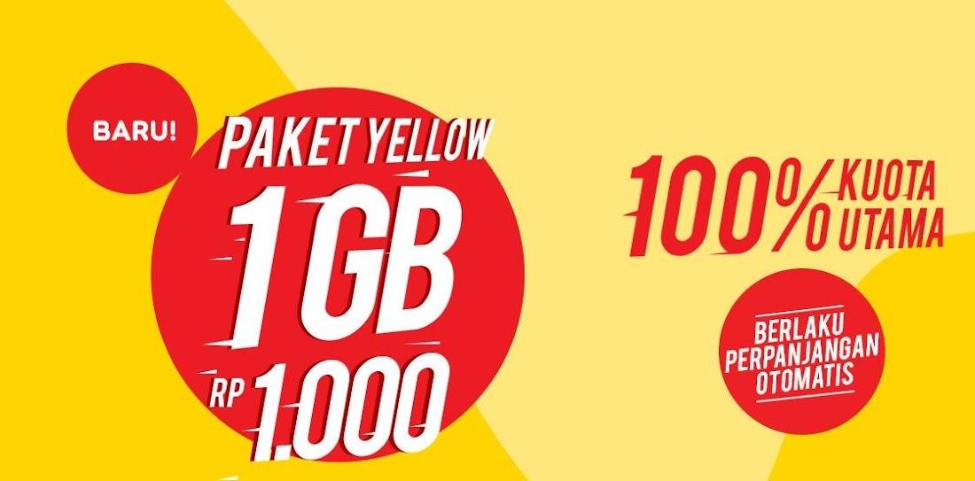 Paket Data Yellow Im3 1gb Cuma Seribu