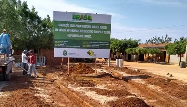 Prefeitura inicia construção de praça na localidade de Macacos