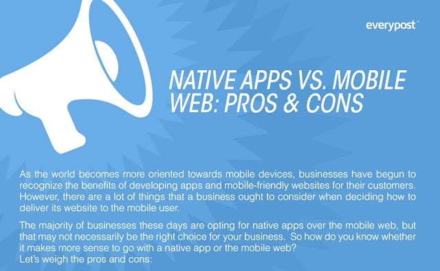 Image: Native Apps vs. Mobile Web: Pros and Cons