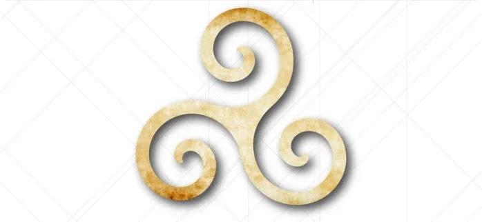 espiral tripla, ou Triskele