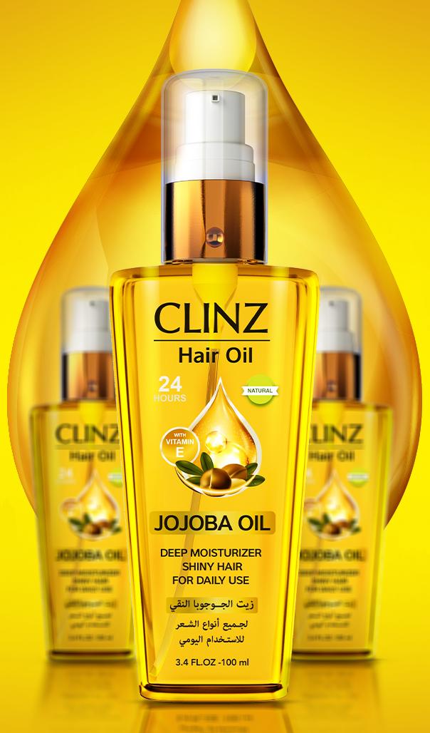 """""""كلينز زيت الجوجوبا للشعر""""لعلاج الشعر التالف والمتقصف والهايش""""Clinz Natural Jojoba Oil"""""""