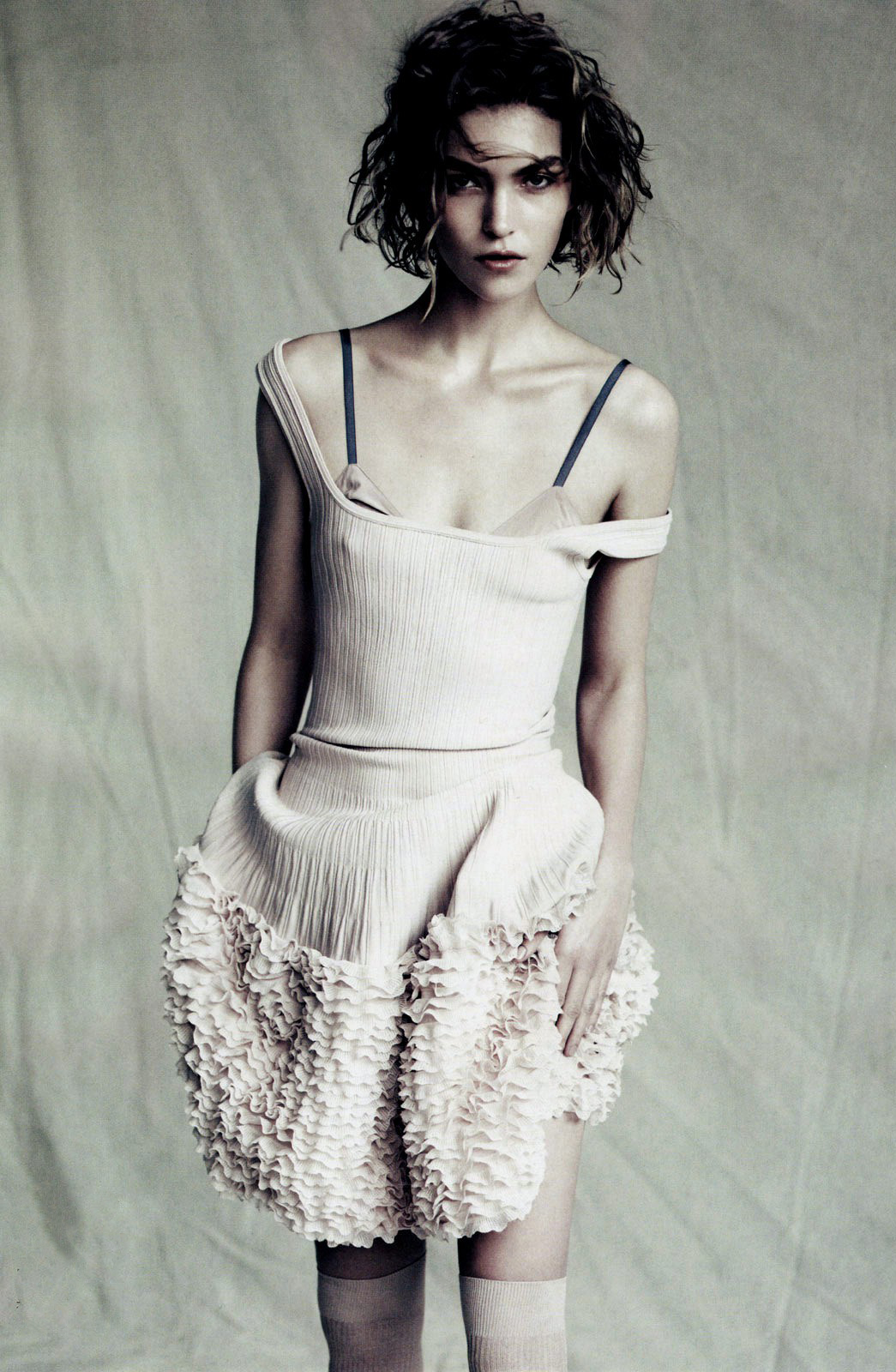 Azzedine Alaia thoughts on fashion +Arizona Muse wearing Azzedine Alaia dress photographed by Paolo Roversi & styled by Nicoletta Santoro for Sound of Silence / Vogue China April 2011 via www.fashionedbylove.co.uk british fashion blog