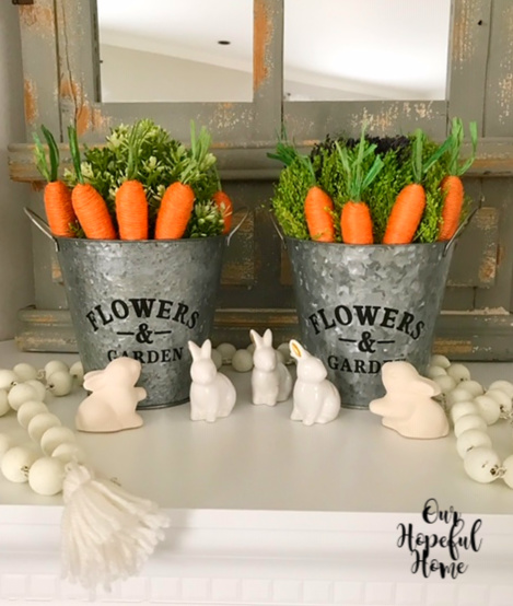 carrots rabbits buckets beads