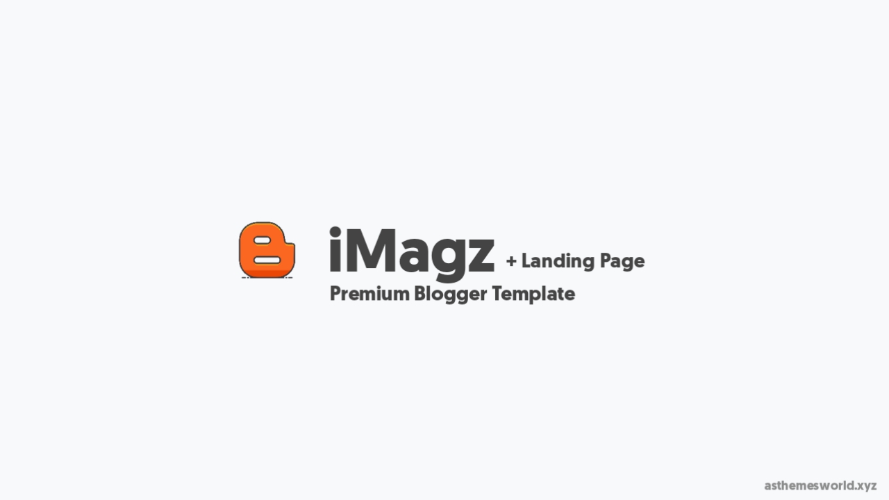 iMagz with Landing Page Blogger Template Free Download