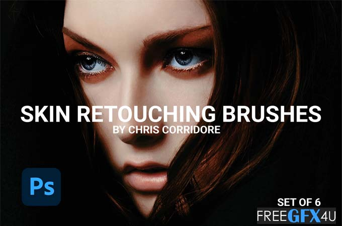 Skin Retouching 6 Brushes Set