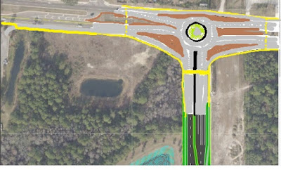 Modified Bypass Roundabout at Kernan and McCormick