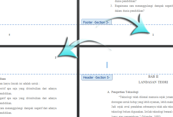 Cara Membuat Nomor Halaman Berbeda Posisi Pada Microsoft Word