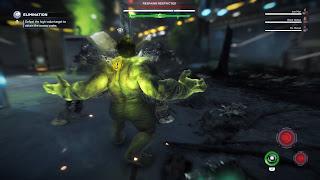 Hulk glowing green