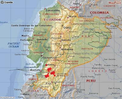Pyrrhura orcesi map