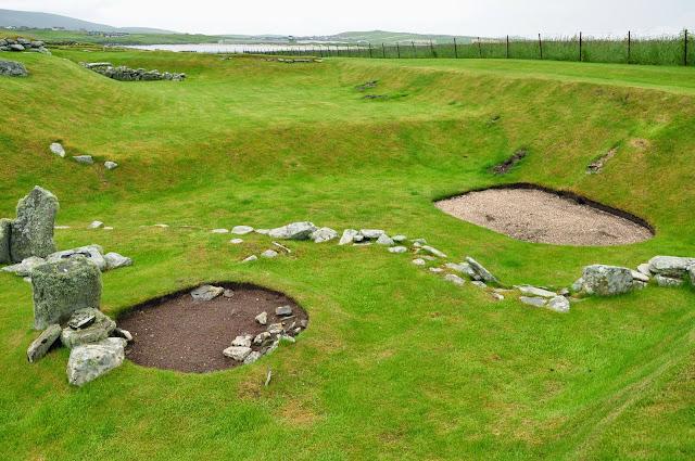 wielokulturowe stanowisko archeologiczne w Jarlshof, Szetlandy - epoka neolityczna