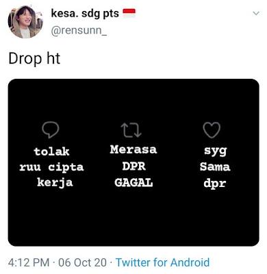 Arti 'Drop HT' dalam Bahasa Gaul di Twitter
