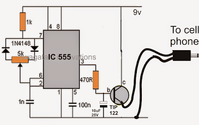 PWM based DC to DC cellphone charger circuit