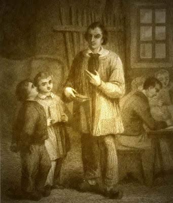 « L'école des Pauvres », gravure anonyme 1840