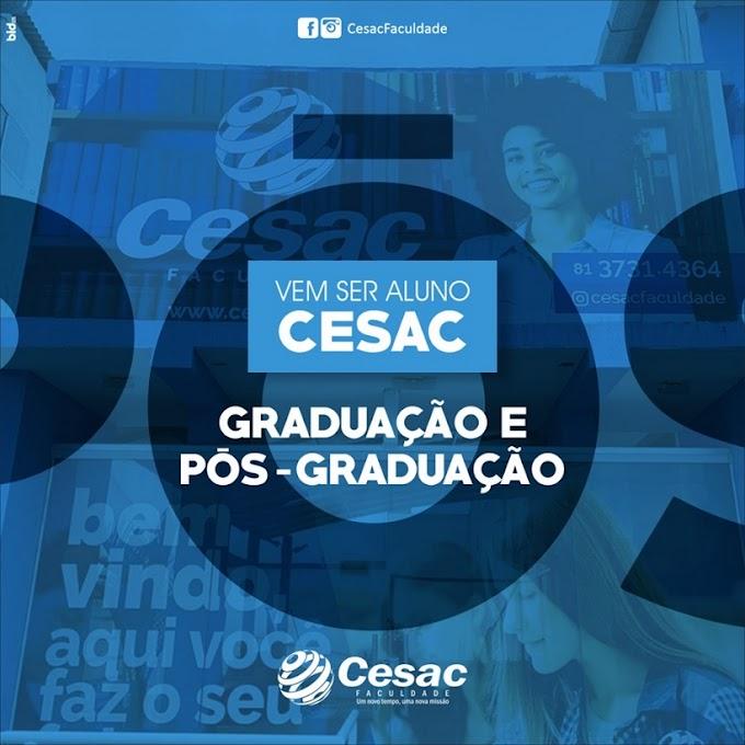 Faculdade Cesac tem cursos de graduação e pós-graduação em Santa Cruz do Capibaribe
