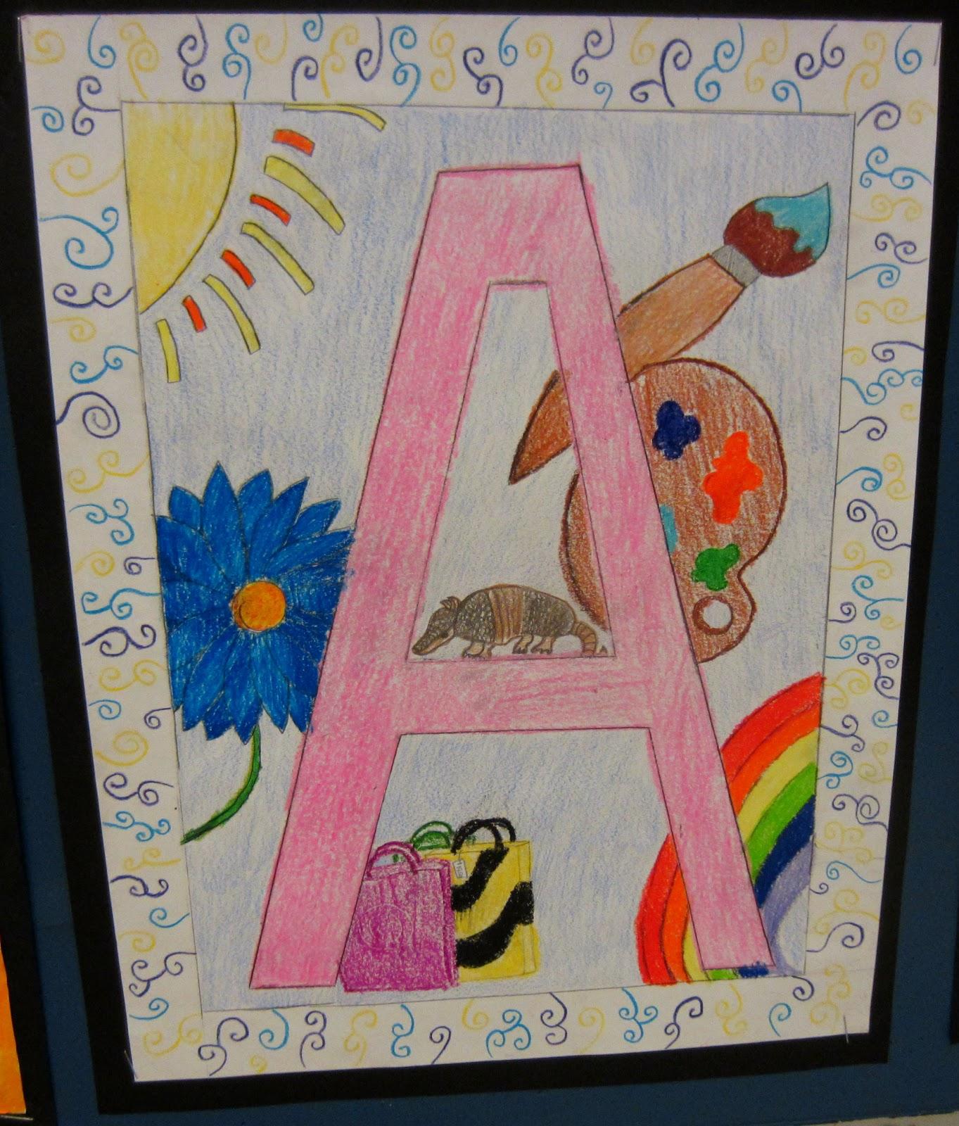 illuminated alphabet templates - mrs art teacher illuminated letters 2012 version