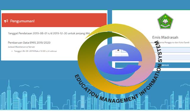 Updating Data dan Target Capaian EMIS Semester Ganjil 2019-2020