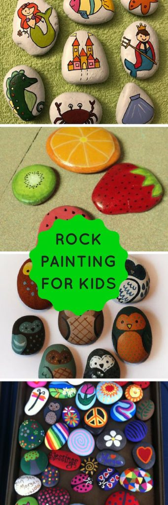 Fun and easy to pull rock painting ideas for kids