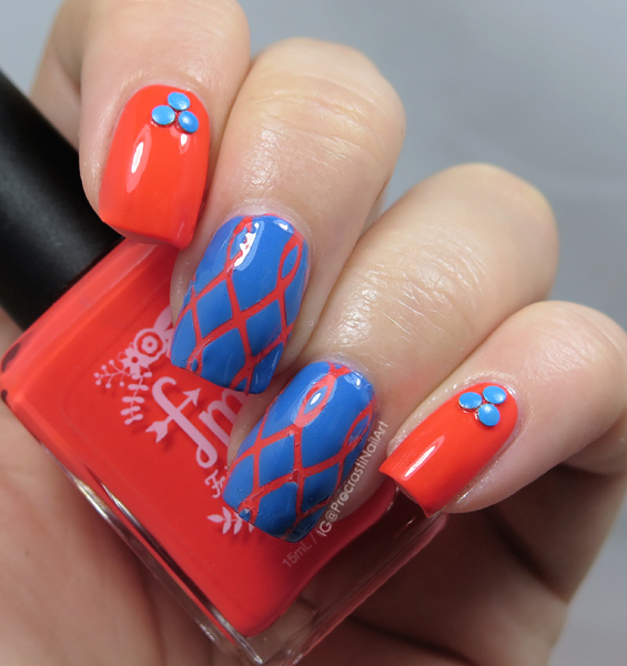 Nail art with Fair Maiden Polish and Kayla Ray Vinyls