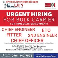 seaman job vacancy, Filipino seafarers jobs hiring