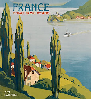 301050f80658a France  Vintage Travel Posters 2019 Wall Calendar 2019 - Trend Italy